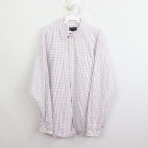Banana Republic Mens XL Slim Fit Dress Shirt Plaid